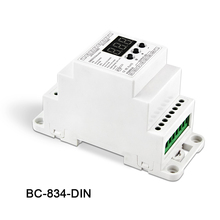New BC-834-DIN DIN Rail DC12 24V 6A*4CH output,4CH Constant voltage DMX512/1990 Decoder controller for led strip light lamp bc rj45 connect led rgb rgbw 624 din bc 632 din bc 640 din 24 32 40 ch dmx512 8bit 16bit dc12v 24v strip lamp decoder