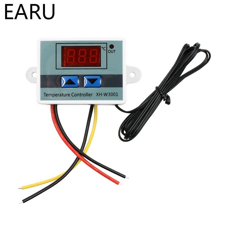 купить XH-W3001 10A Digital Temperature Controller 12V, 24V, 220V Quality thermal regulator Thermocouple thermostat with LCD display онлайн