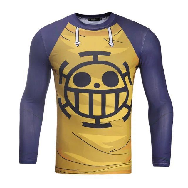 Unisex Trafalgar Law 3D Printing Long-Sleeve Roud-Neck Hoodies Women Men Casual Lover Couple Outdoors Quick-dry Top