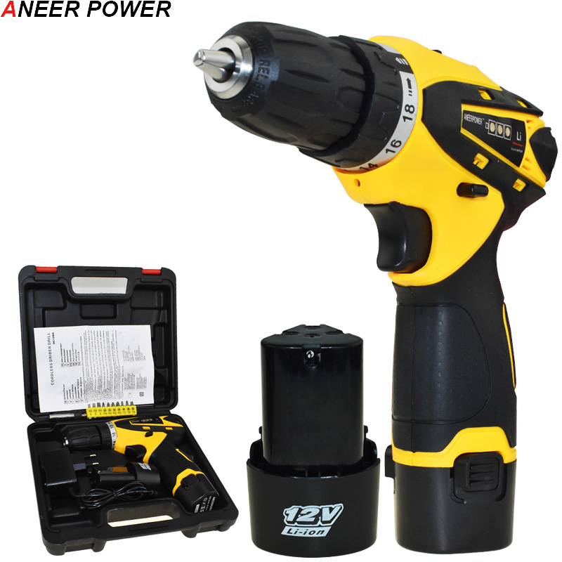 12v Drill Mini Batteries Screwdriver 1.5Ah Battery Capacity Power Tools Drill Screwdriver Multifuctional Cordless Screwdriver 1 5ah battery capacity drill 12v mini cordless drill power tools electric screwdriver electric drill batteries screwdriver