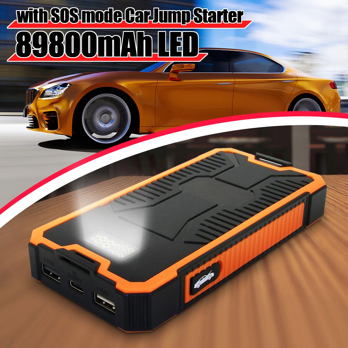 Chargeur de voiture Portable 89800mAh batterie Booster USB batterie externe 9V 2A chargeur rapide double sortie USB avec affichage