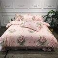 Conjunto de ropa de cama de 100% algodón muy suave de temporada doble reina tamaño niños niñas comodidad edredón cubierta sábana