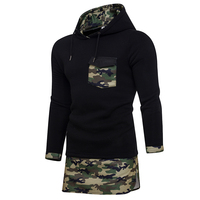 HD DST New Men S Fashion Hoodies Sweatshirts Hot Sale Casual Camo Spell Color Long Section