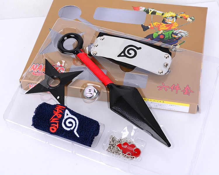 Anime Naruto Ninja Shuriken Kunai Sasuke Kakashi Cosplay Props Kids Toys In Box