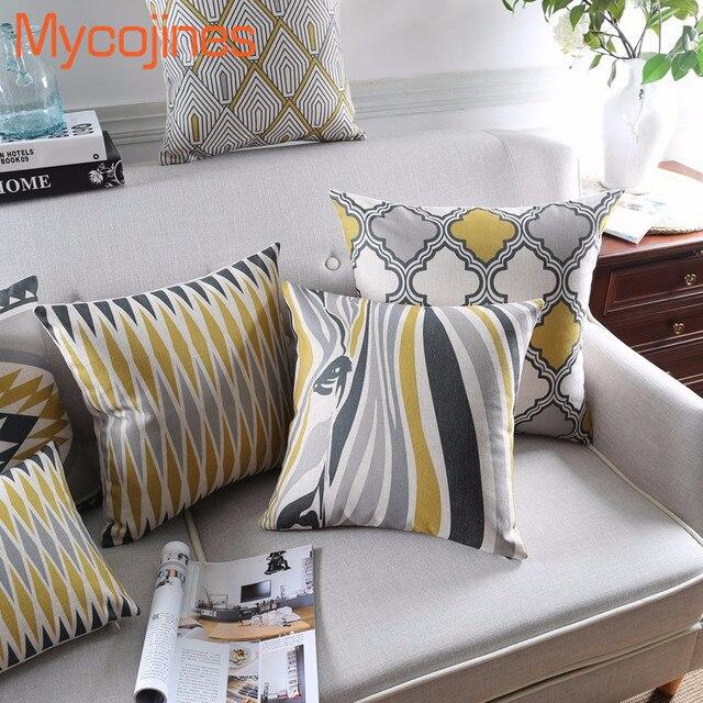 Decorativo caso cuscino di tiro della copertura animali zebra geometria di color