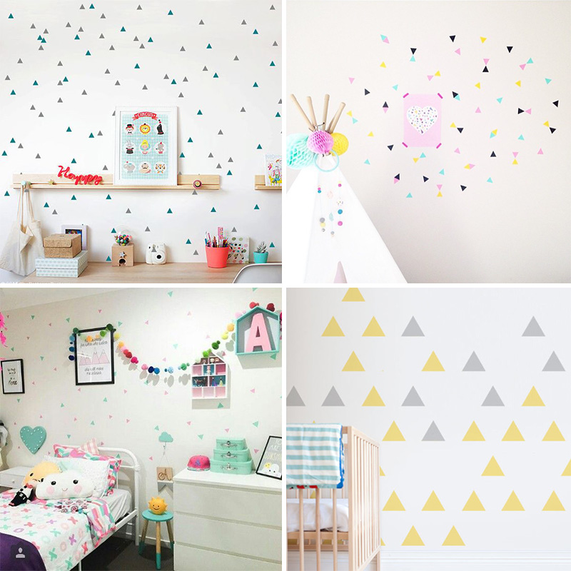 Triangles Wall Sticker For Kids Room Baby Room Wall Decal Stickers Nursery Boy Room Decorative Stickers Kids Bedroom Home Decor Big Offer 623d0 Cicig