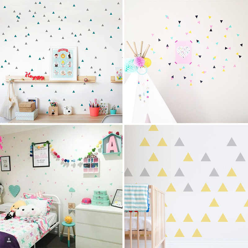 Triangles Wall Sticker For Kids Room Baby Room Wall Decal Stickers Nursery  Boy Room Decorative Stickers Kids Bedroom Home Decor