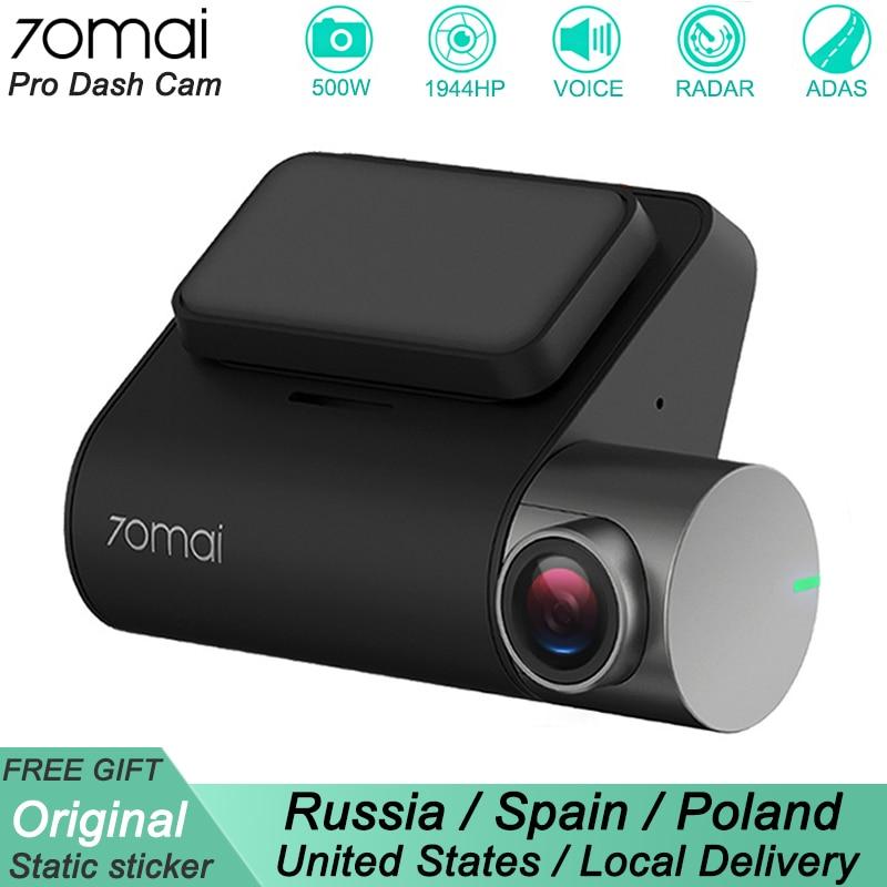 Xiaomi 70mai Pro Dash Cam 1944P GPS ADAS Auto DVR 70 mai Dashcam Voice Control 24HParking Monitor 140FOV nachtsicht WIFI Kamera