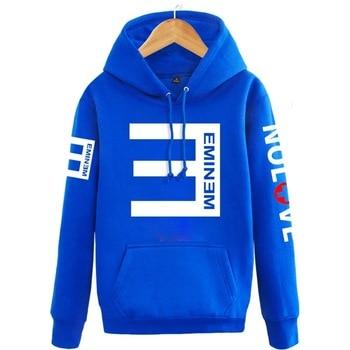2018 Winter Men's Fleece Hoodies Eminem Printed Thicken Pullover Sweatshirt Men Sportswear Fashion Clothing women sweatshirt Bullet Cheetah