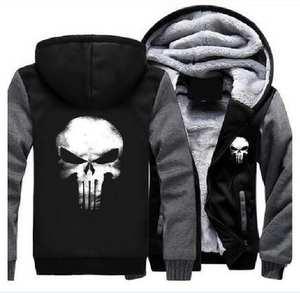 8c86841e0db MSSNNG Skull Coat Zipper Hoodie Winter Fleece Sweatshirts