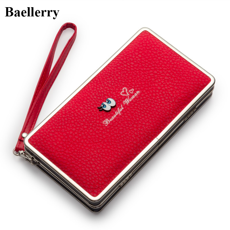New Designer Phone Wallets Women Wallets Brand Leather Long Red Coin Purses Female Clutch Bags For Gift 2017 Money Card Holders