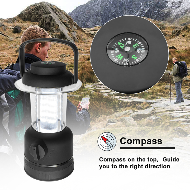 Outdoor LED Camping Lantern light 12 LEDs Ultra Bright Waterproof & Shock Proof Battery Drive Portable lamps for Hiking Tent