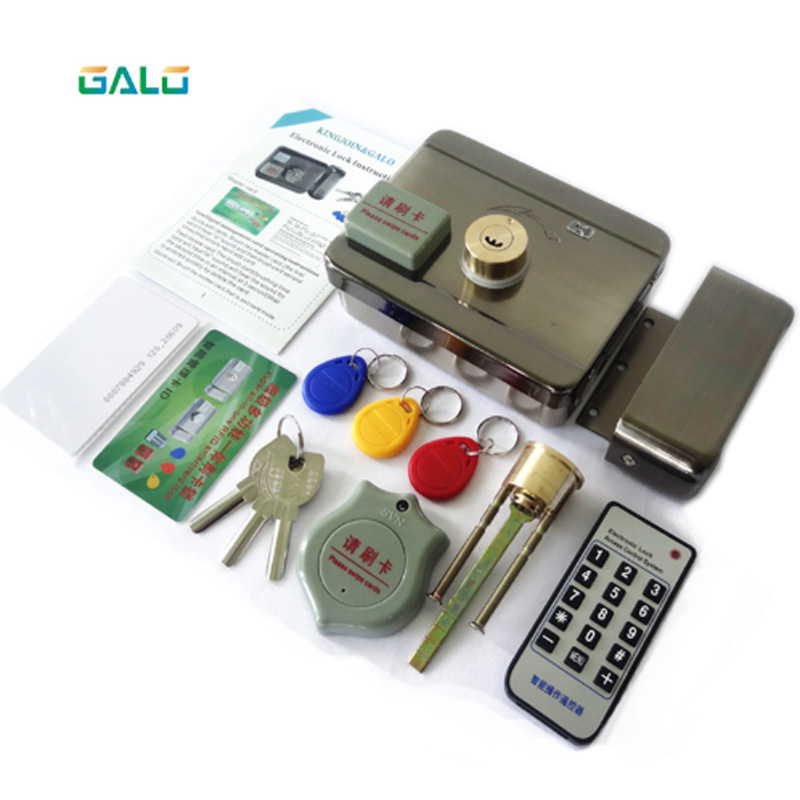 Single/double Access Door & Gate Access Control System Electronic Integrated RFID Motorized Lock With RFID Reader