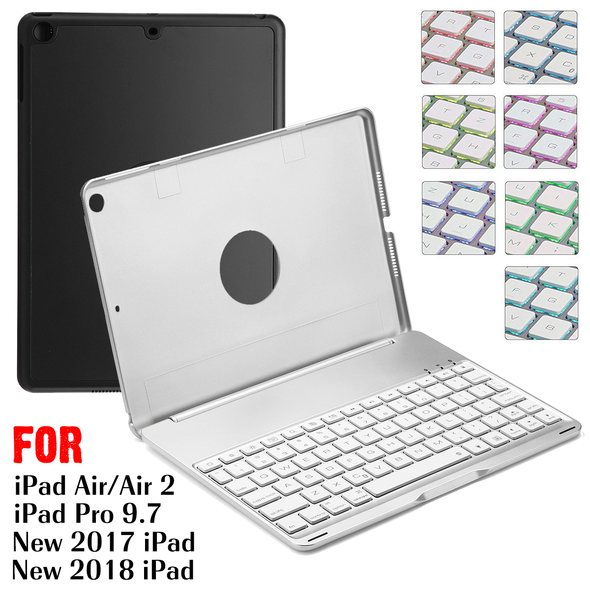 Tablet Case For iPad Keyboard Cover Case Bluetooth Wireless Keyboard Backlit For iPad Air 1 Case For 9.7 inch Cover Stand Holder epson 26 c13t26144012 yellow картридж для xp 600 xp 700 xp 800