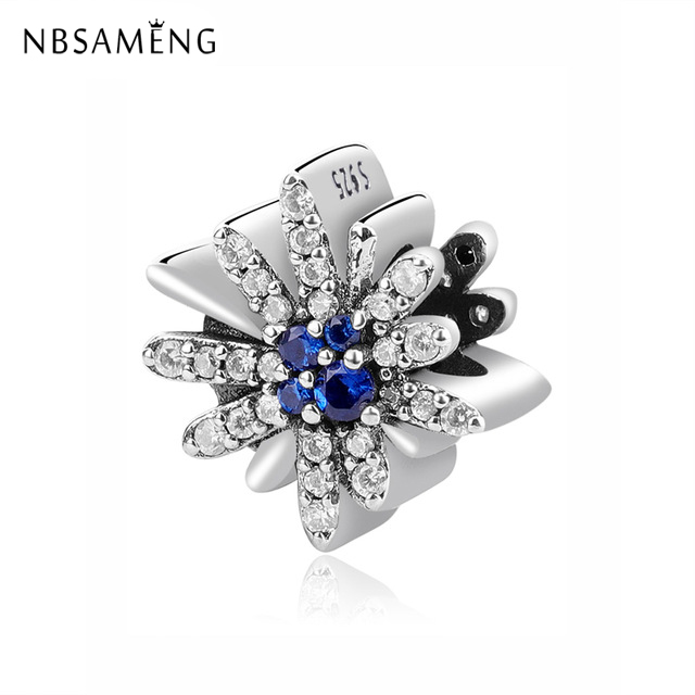 Liberal Nbsameng 100% 925 Sterling Silver Bead Charm Dazzling Fireworks Blue Crystals Charms Beads Fit Original Pandora Bracelet Jewelry Pleasant To The Palate Jewelry & Accessories