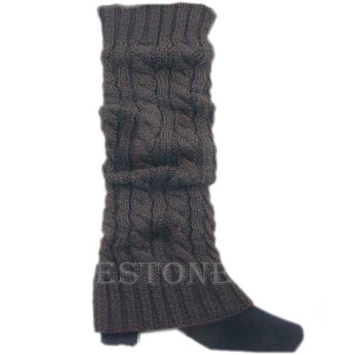Kadın Kış Örgü Tığ Sıcak Diz Çizme Çorap Slouch Bacak Isıtıcıları