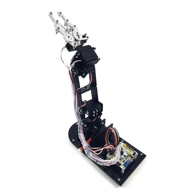 5 DOF Yüngül lehimli Robot Arm Qısaqollu Claw Dırnaqlı Baza 5 - Oyuncaq fiqurlar