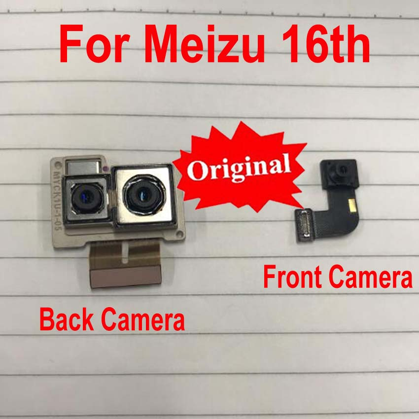 Original Best Working Small Facing Front Camera For Meizu 16th 16 M882Q M882H Big Main Rear Back Camera Flex Cable Phone Parts