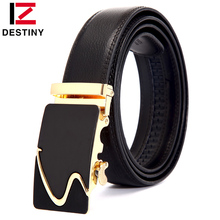 DESTINY Newest Designer Belts Men High Quality Genuine Leather Famous Brand S Gold Silver Automatic Buckle Belt Waist Strap Male