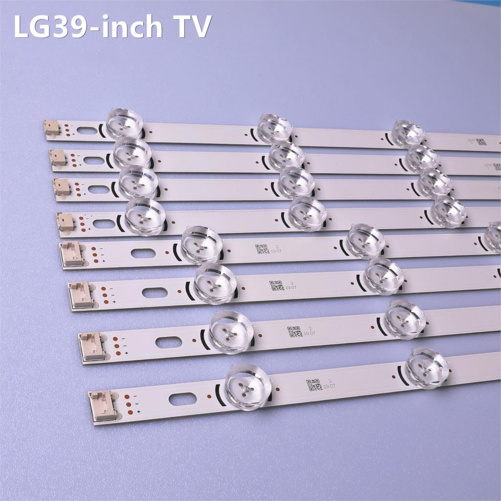 """LED Backlight Strip 9 Lamp For LG 39"""" TV 39LN5100 INNOTEK POLA2.0 39 39LN5300 39LA620S POLA 2.0 39LN5400 HC390DUN-VCFP1"""