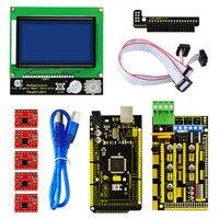 Free Shippng 3D Printer Kit 3D 12864 LCD 3D RAMPS 1 4 Controller 5 Pcs A4988