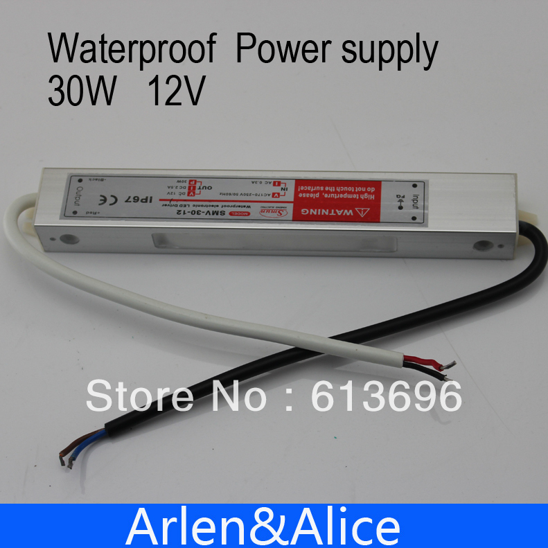 30W 12V 2.5A Waterproof outdoor Single Output Switching power supply for LED Strip light ac to dc 1200w 48v adjustable 220v input single output switching power supply for led strip light ac to dc