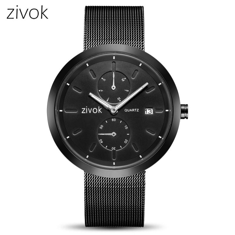 Zivok Top Brand Black Army Military WristWatch Fashion Quartz Men Watch Relogio Masculino Clock Men Bayan Kol Saati Xfcs Watches