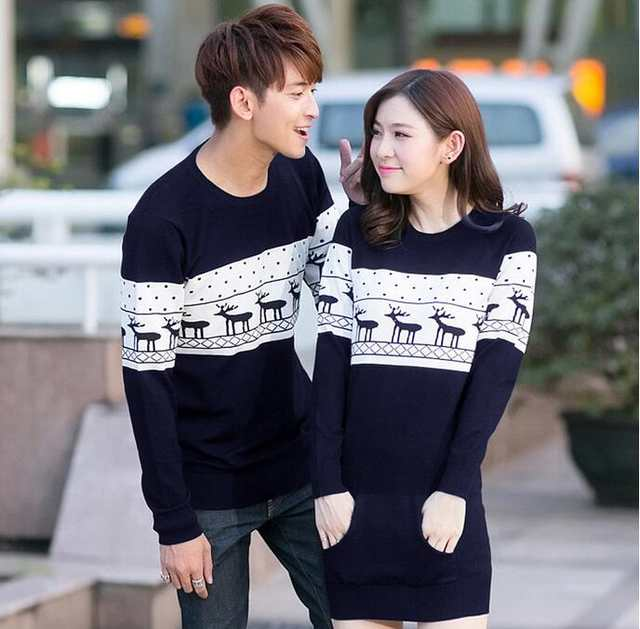 Couples Christmas Sweaters.Top Quality Christmas Sweater For Men And Women Couples Matching Christmas Sweaters For Lovers Couple Christmas Deer Sweaters
