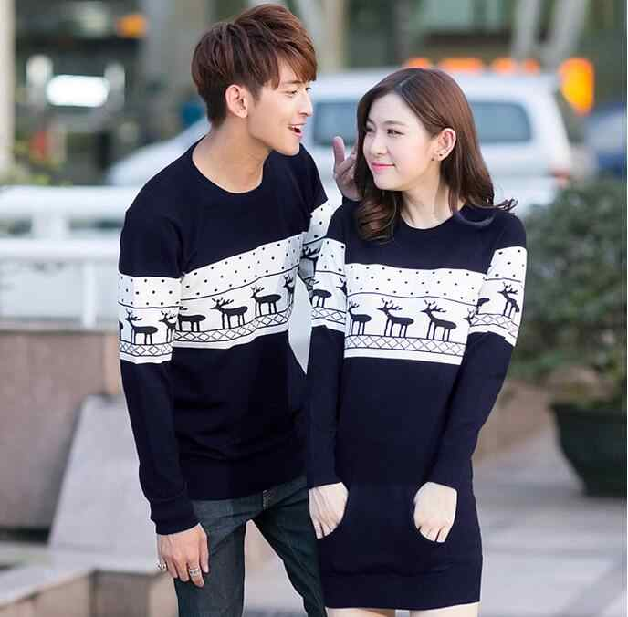 6a2bdb68c5 ... Top Quality christmas sweater for men and women couples matching  christmas sweaters for lovers couple Christmas