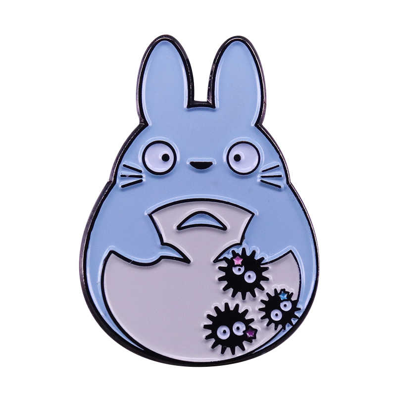 น่ารัก Totoro ป้าย Spirited Away soot sprite PIN Kawaii Ghibli อะนิเมะ fandom Decor