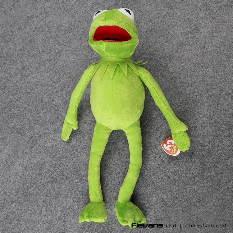 лучшая цена Hot Sale 14'' 40cm Kermit Plush Toys Sesame Street Doll Stuffed Animal Kermit Toy Plush Frog Doll Holiday Gift