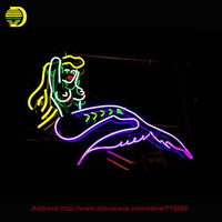 Mermaid Sea Maid Neon Sign Handcrafted Neon Bulbs Night Light Glass Tube Iconic Sign Beer Decorate