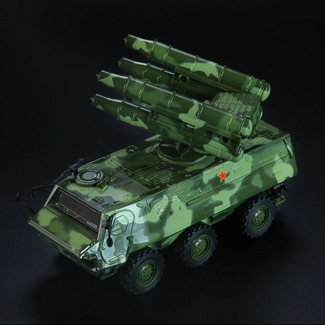 Luz y Sonido se retraen de Cohetes Tanque de ruedas carro Blindado Blindado Modelo Militar aleación Guerrero coche coche de juguete Para Niños