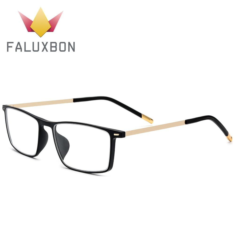 Cadre de lunettes de Prescription en alliage Rectangle hommes TR90 haute qualité myopie cadre de lunettes 2019 hommes optique lunettes cadre marque