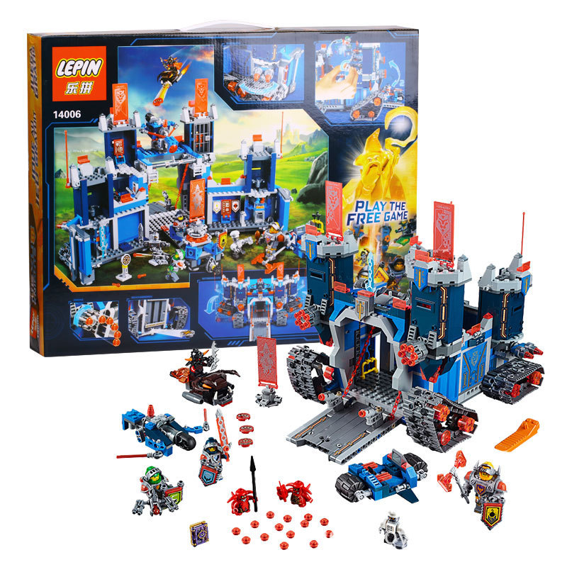Model 14006 1115Pcs Nexus Knights The Fortrex Castle Building Block Clay Aaron Fox Axl Compatible 70317 Bricks baby gifts hot sy762 nexus nick knights mech robot building block clay macy axl lance beast master moltor bricks block figure toys for kids