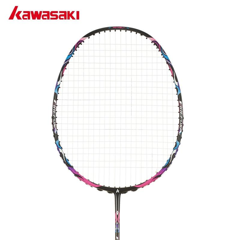 Kawasaki Марка Профессиональной углеродистой Бадминтон ракетки 4u ракетка с Строка Мяч Тип Управления Ракетки для начинающих Firefox S720