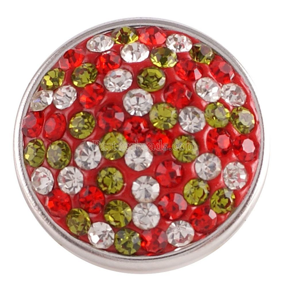 Partnerbeads Handmade 18MM Rhinestone Snap Buttons For DIY Snap Pendant High Quality Charm Jewelrys Wholesale KC2704