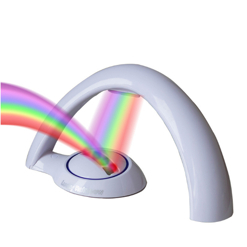 Led Night Light Bedside Lamp LED Colorful Rainbow Night Light Romantic Sky Rainbow Projector Lamp Battery Powered Small Gifts