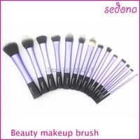 Luxury 14 Pieces Set Super Soft Hair Blue Makeup Brush Kit For Make Up Eye Face