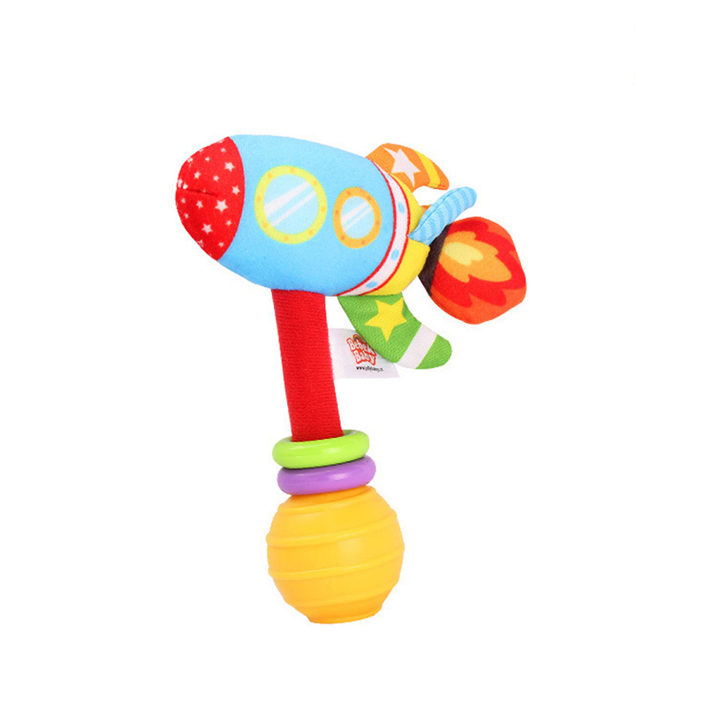 New Baby Plush Rattles Handle Pulling Play Toys Baby Bed Stroller Hanging Rattles Infant Baby Toys Gifts