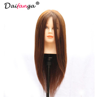80 Human Hair Mannequin Head Hairdressing Practice Training Doll Heads Cosmetology Hair Styling Mannequins Heads With