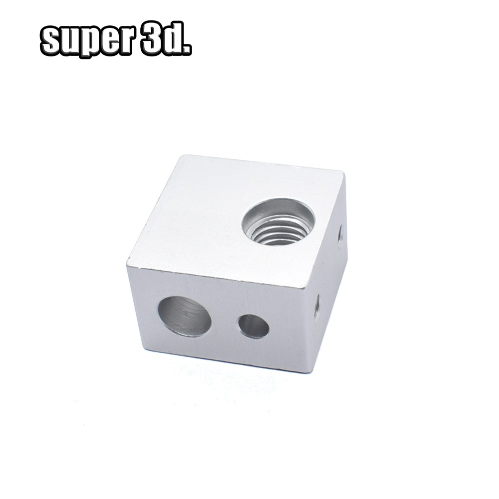 1/5pcs MK2 Aluminum Heating Block With Brass Protection Sleeve MK10 For 3D Printer MK10 Extruder