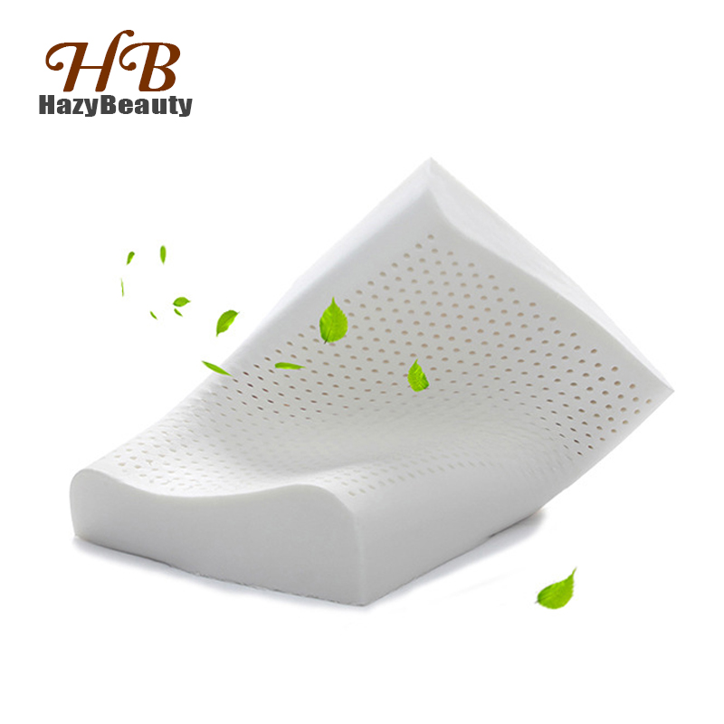 Natural Latex Pillow In Thailand Breathable Orthopedic Pillow Latex font b Health b font Care Massage