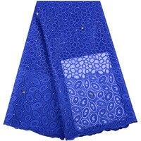5 ярдов/Бесплатная доставка высокого качества в нигерийском стиле кружевная ткань французское Африканское кружево кружевная ткань кружевн...