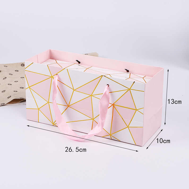 Cute Flamingo Tote Bag Nougat Cookies Gift Bags Wedding Chocolate Paper Boxes Birthday Party Cake Bread Packing Bag Creative Box