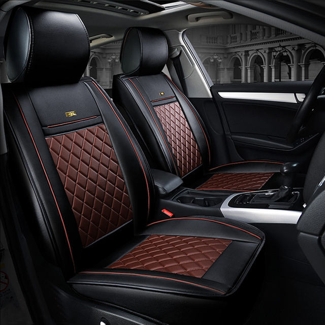Front Rear Luxury Leather Car Seat Covers For Peugeot 205 307