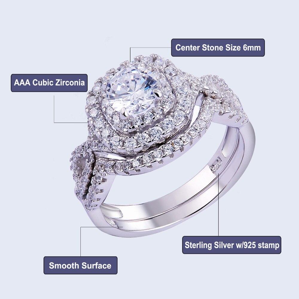 casamento clássico jóias 1.9ct aaa cz genuíno