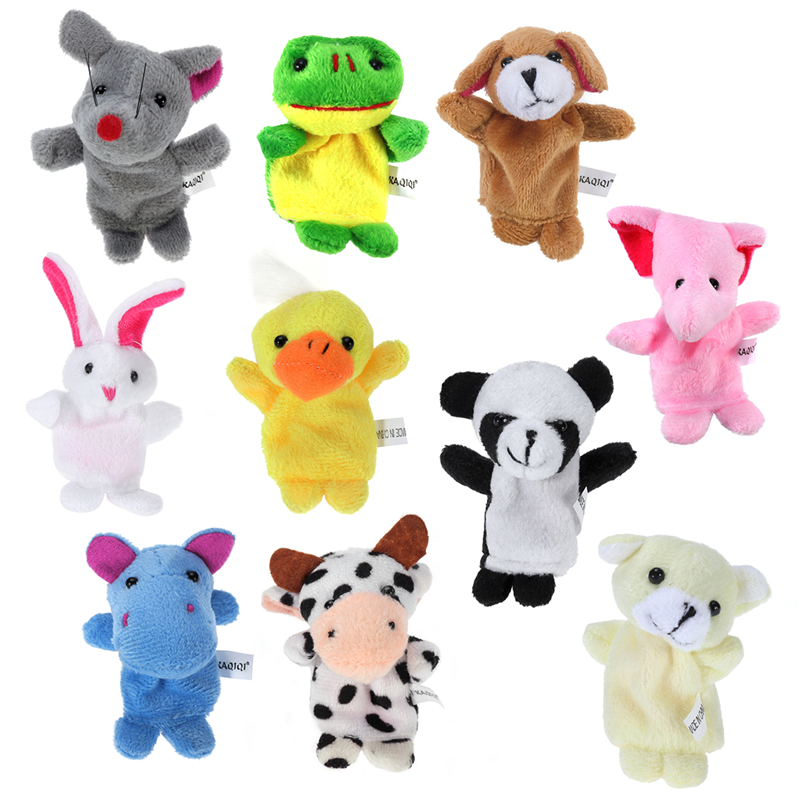 New 10x Farm Zoo Animal Finger Puppets