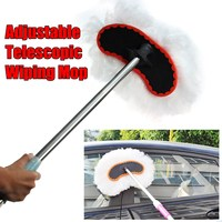 Car Wash Brush Adjustable Telescopic Wiping Mop Car Cleaning Tool Car Supplies