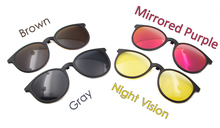Women Vintage Round Magnetic Sunglasses Clip-On For Model 5516